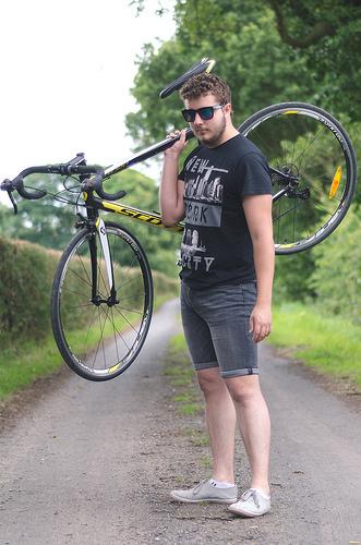 初心者まる出しの自転車ファッション