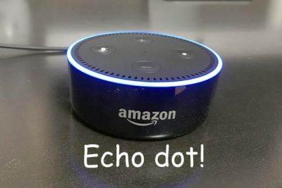 未来キター!話題のスマートスピーカー、Amazon echo dotを使ってみた件